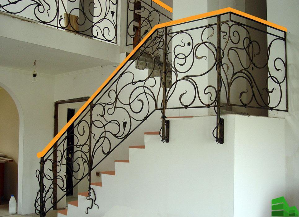 ограждение лестниц из металла