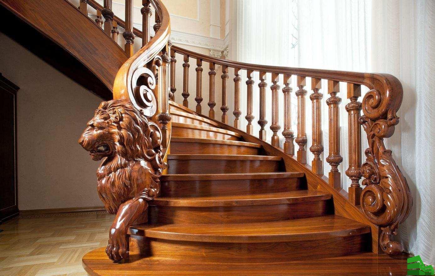 лестничные перила из дерева