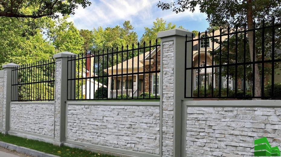 забор перед соседями