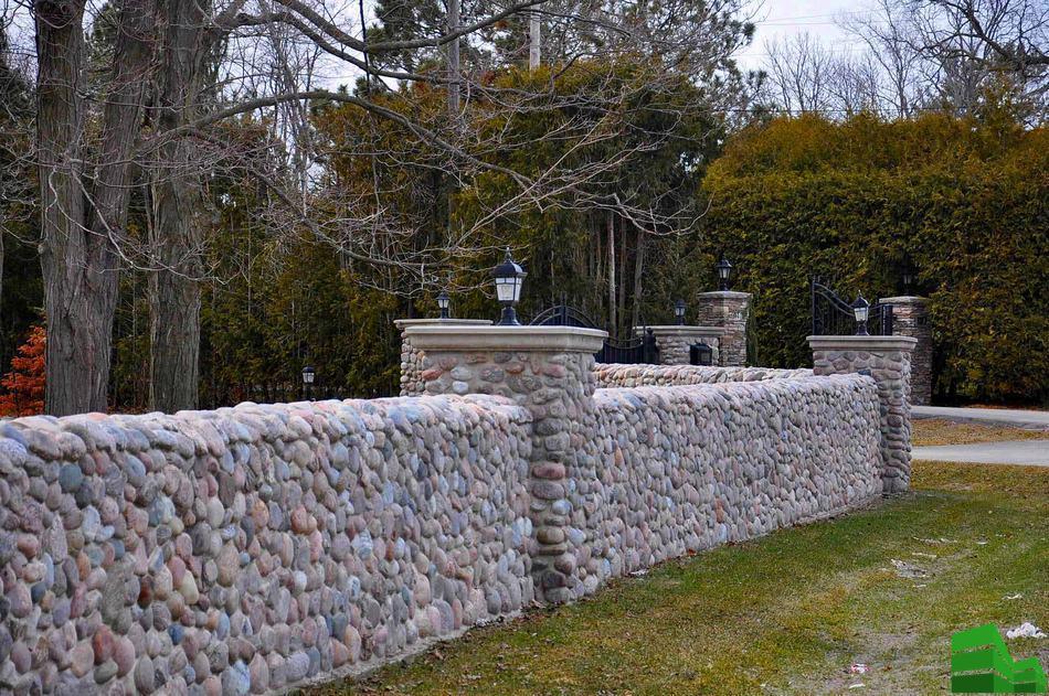 строительство каменных заборов