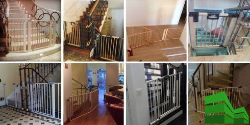ограждение для лестницы в доме от детей
