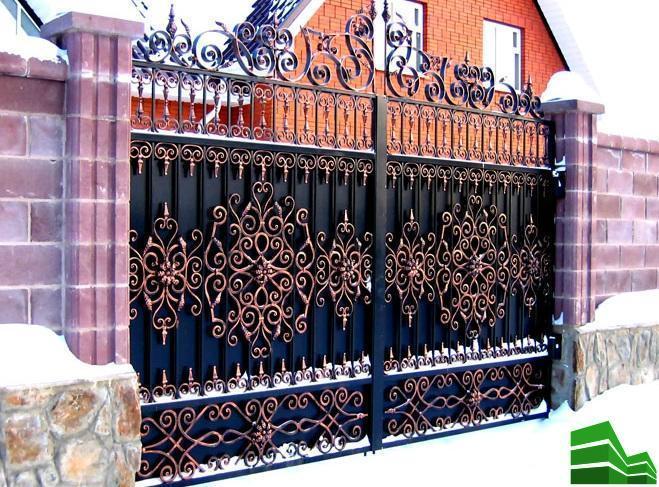 интересные ворота своими руками
