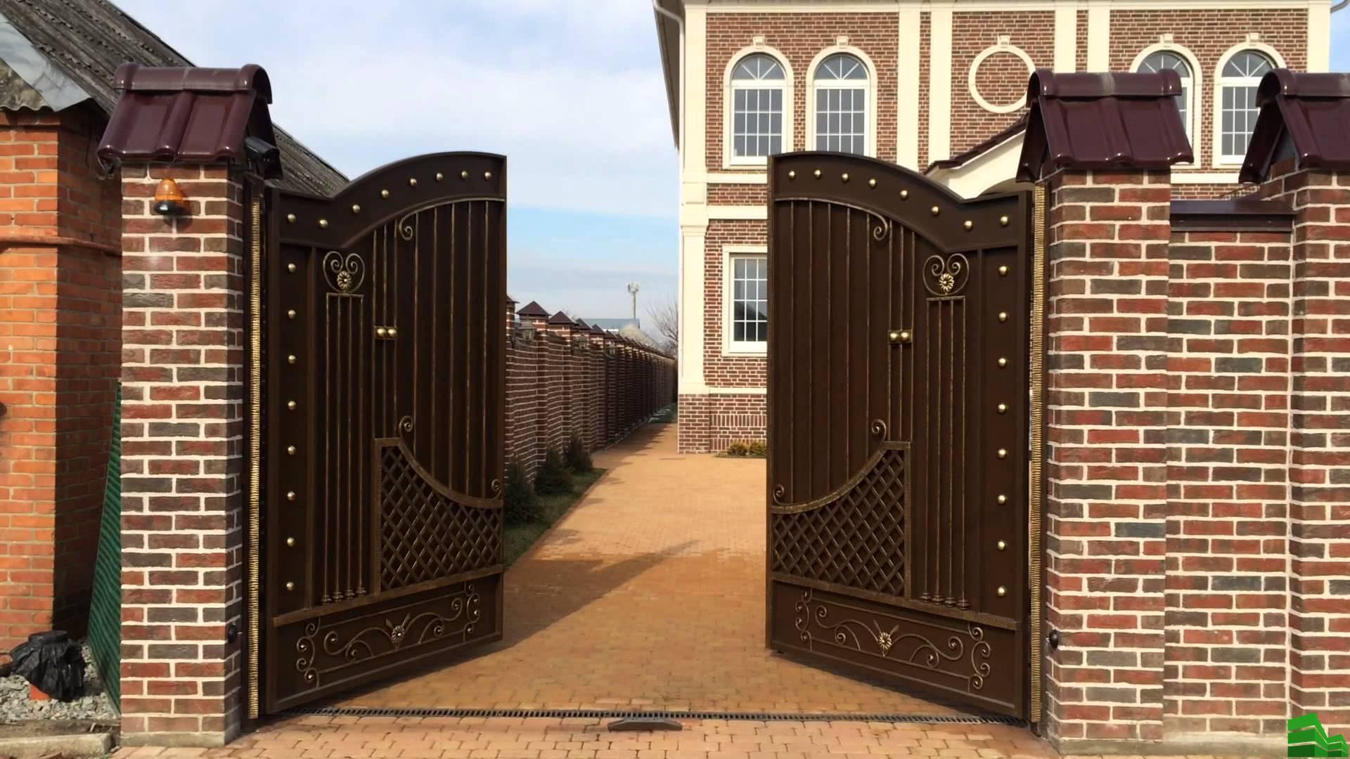 ворота в частный дом своими руками