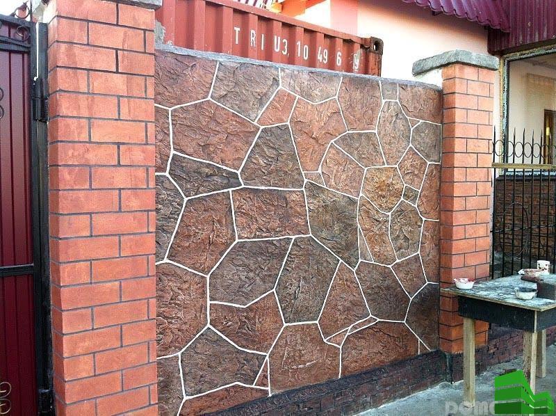 заборы каменные