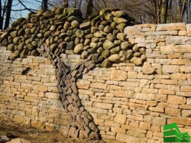 забор из гравия