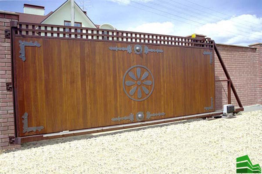 как устроены откатные ворота