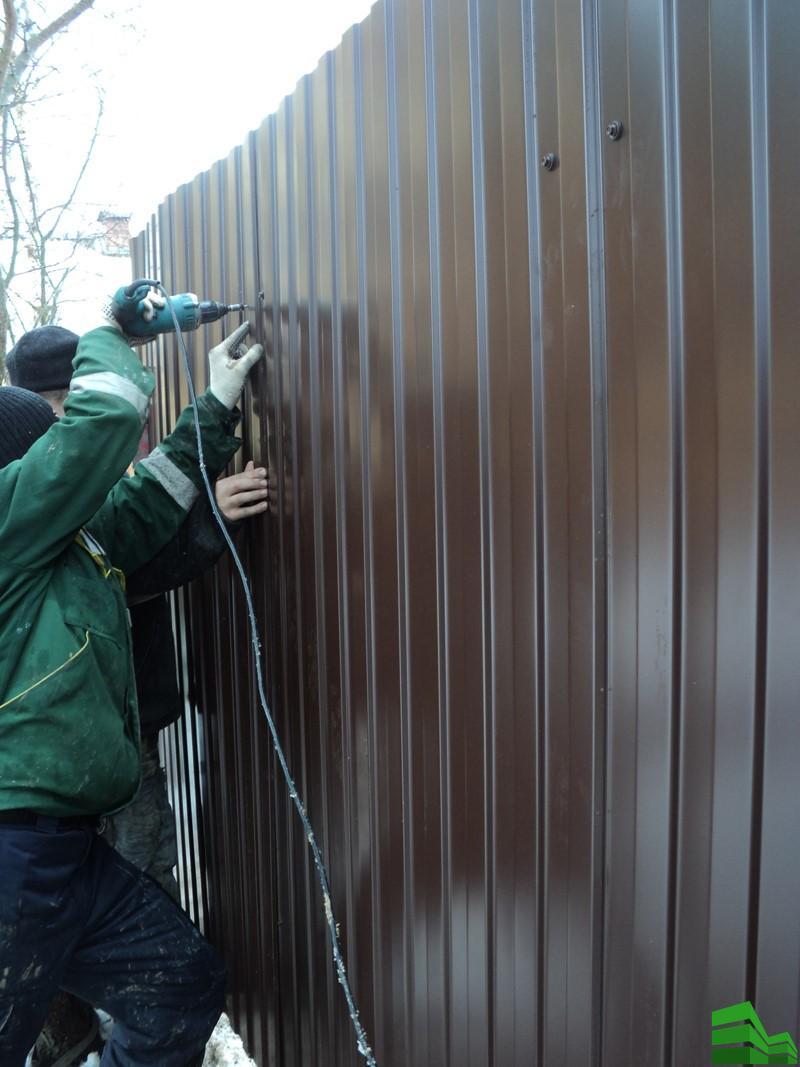 забор из профнастила самостоятельно
