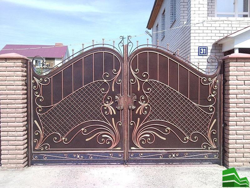 надежные кованные ворота