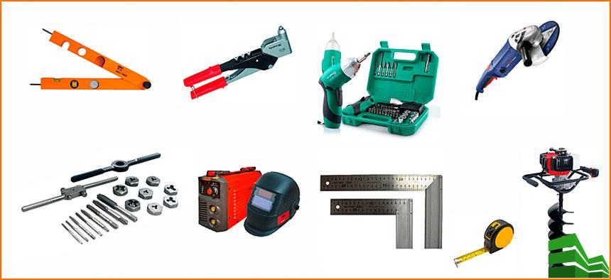 секционные ворота инструменты для установки